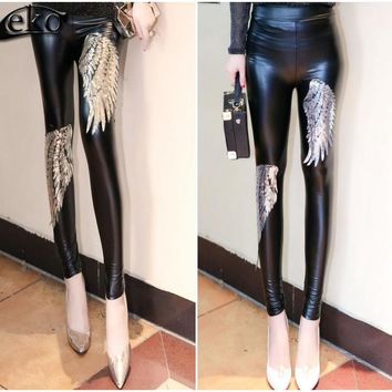 Leggings Gold Silver Angel Wings Sequined