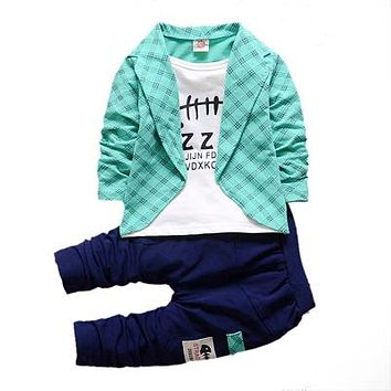 Boys Formal Clothing Kids For Boy Clothes Plaid Suit In September Suit Set Children's Clothing Boy