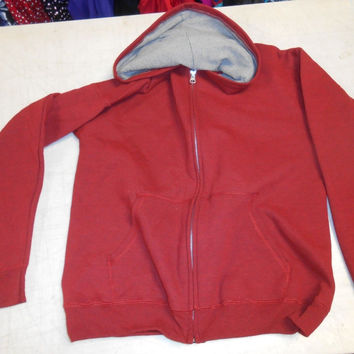 Hanes Boys' EcoSmart Solid Fleece Full Zip Hoodie, 2XL, Dark Red