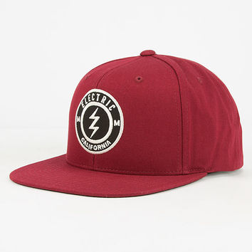 Electric Pensacola Ii Mens Snapback Hat Burgundy One Size For Men 27248632001