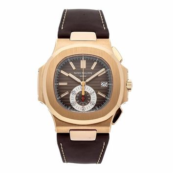 Patek Philippe Nautilus automatic-self-wind mens Watch 5980R-001 (Certified Pre-owned)