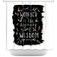 Shower Curtains By Zara Martina Wonder is Wisdom Black Gold
