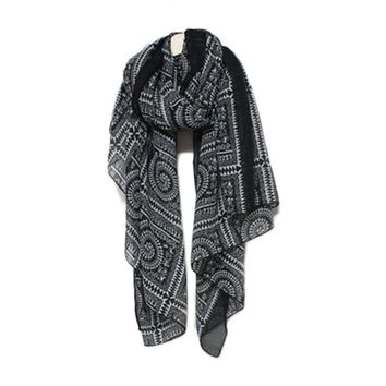 Winter Scarf Thin Vintage Geometric Ethnic Stole Kerchief For Woman Fashion Ponchos And Capes #ET