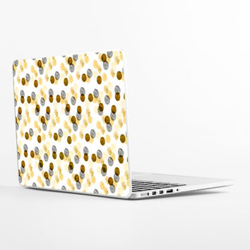 Gold Watercolor Dots Laptop Skin