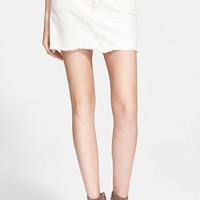Women's Current/Elliott 'The Cut-Off Mini' Denim Skirt,