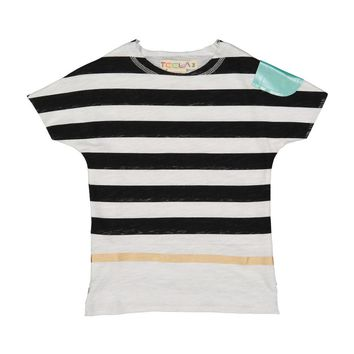 Teela Boys' Stripe Print Tee with Metallic Pocket