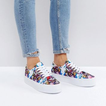 ASOS x The Emoji Movie Lace Up Trainers at asos.com
