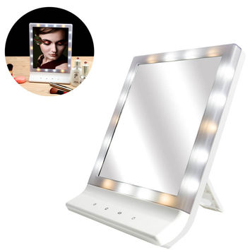 2017 LED Makeup Cosmetic Mirror Multiple Illumination Large Screen Wall Mount Mirror with 18 LED Light