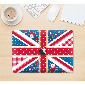 """The Fun Styled Vector London England Flag Skin Kit for the 12"""" Apple MacBook"""