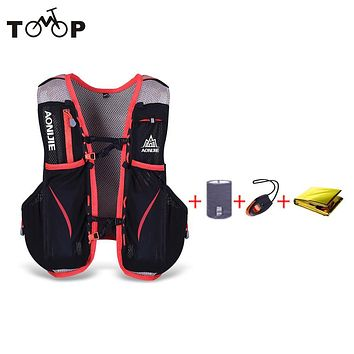 Unisex Hiking Cycling Vest Bag 5L Outdoor Marathon Hydration Backpack +1.5L Hydration Water Bag Running Bags