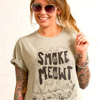 smoke meowt relax to the max the shirt that gets you high