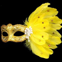 ONETOW Turkey feather Mask Masquerade Costume  Halloween Female Upper Half Face Fancy Dress Ball Party  cosplay
