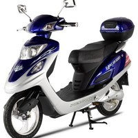 X-Treme Scooters Electric Bicycle Scooter Moped (Blue)