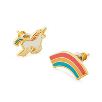 Unicorn & Rainbow Mismatched Earrings | Playful Earrings