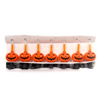 Halloween Pumpkin Bubble Light Set Halloween Decor