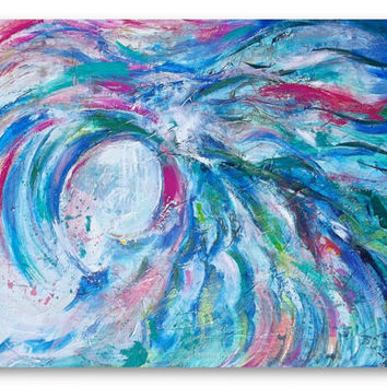 Dream Abstract Seascape Original Painting on Canvas -  Art Ready to Hang - Lana's Fine Art - Home Decor