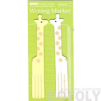 Adorable Giraffe Shaped Animal Themed Memo Post-it Adhesive Writing Marker Bookmark Tabs