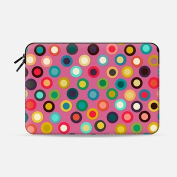 "pink pop spot macbook Macbook Pro 13"" sleeve by Sharon Turner 