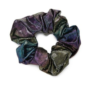 Iridescent Dot Scrunchie