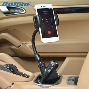 Mobile phone gps navigation dual usb car charger holder mount stand support for samsung iphone meizu xiaomi phone  Accessories