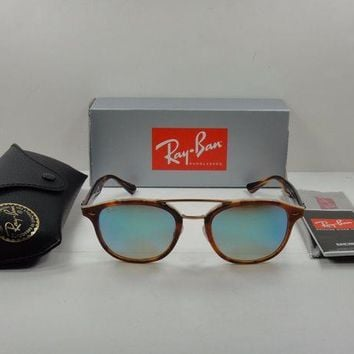 Gotopfashion RAY-BAN SUNGLASSES RB2183 1128B7 TORTOISE FRAME/BLUE GRADIENT MIRROR LENS 53MM