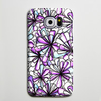 Purple Flowers Crystals iPhone 6 Case Galaxy s6 Edge Plus Case Galaxy s6 s5 Case Samsung Galaxy Note 5 Case s6-020