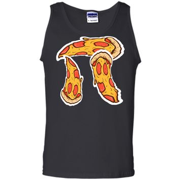 Pi Day Shirt kids Pizza Pi Funny Math Food 3.14 Distressed Tank Top