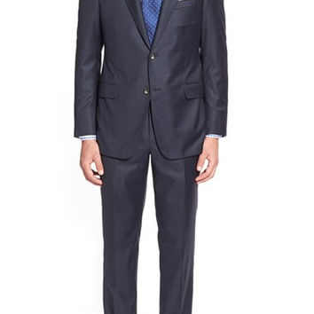 'Beacon B' Classic Fit Solid Wool Suit