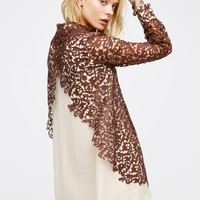 Free People Delia Lace Shirt Dress