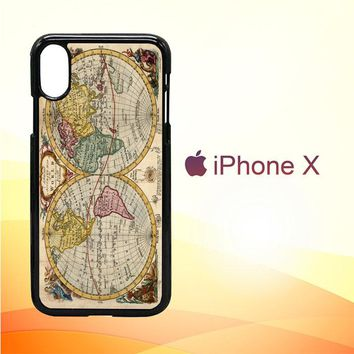 ACCURATE MAP OF THE WORLD V0691 iPhone X Case
