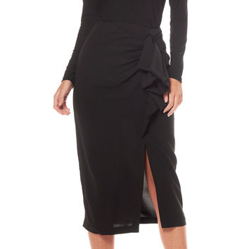 Frilled Pencil Skirt S15994