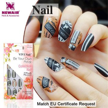 Rock Style Ballerinas Fake Nails Coffin False Nails Tips Artificial Nail Art Manicure Accessories Women