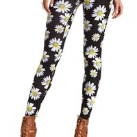 COTTON FLORAL PRINTED LEGGINGS
