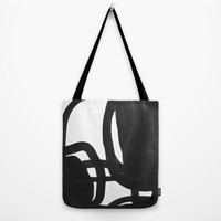 Black & White Abstract 2 Tote Bag by Cecilia Andersson