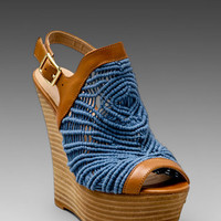 Steven Jacks Wedge Sandal in Blue from REVOLVEclothing.com