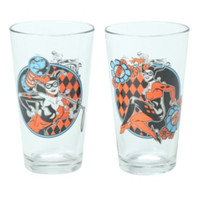 DC Comics Harley Quinn Pint Glass 2-Pack