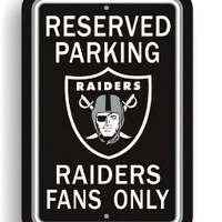 Bsi Products Bsi NFL Oakland Raiders Reserved Parking Sign