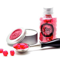 B20 Sealing Wax Beads in Bottle. Hot Pink. Spoon & Candle Available for Set.