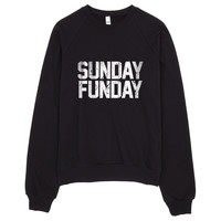 Sunday Funday Vintage Typography Sweater