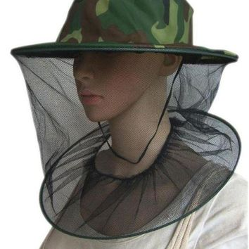 LONMF Insect Mosquito Net Mesh Face Fishing Hunting Outdoor Camping Hat Protector Cap