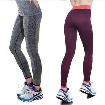 S-XL 4 Colors Women's Active Leggings Quick Drying Fitness Trousers Outdoor Professional Running Legging Elastic Sport legging