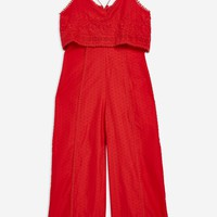 Embroidered Strappy Jumpsuit