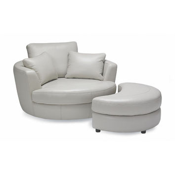 Sofas to Go Cuddler Swivel Chair and Ottoman