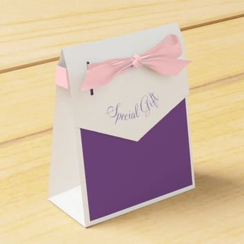 Special Gift Purple Pink Paper Favor Box