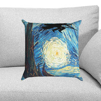 Harry Potter and Starry NIght Custom Pillow Case for One Side and Two Side
