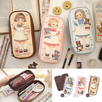 Afrocat Paper Doll Mate Better Beauty Pouch P Cosmetic Organizer Bag Pencil Case | eBay