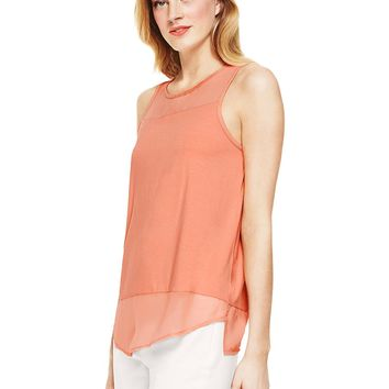 Vince Camuto Sleeveless Mixed Media Top
