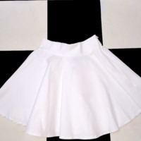 SWEET LORD O'MIGHTY! MILKMAID SKIRT IN WHITE