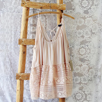 Layered Lace Tank in Dusty Pink