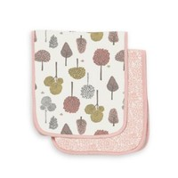 Treetops Petal Burp Cloth Set